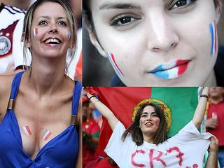 Fan nữ Pháp PK fan nữ Bồ Đào Nha